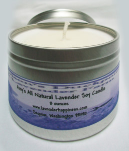 Amy's All Natural Lavender Soy Candle